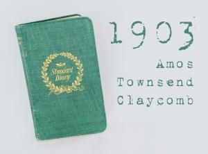 ATC 1903 diary with text