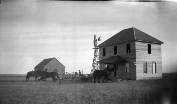 The house he built on the Wildorado land about 1910.