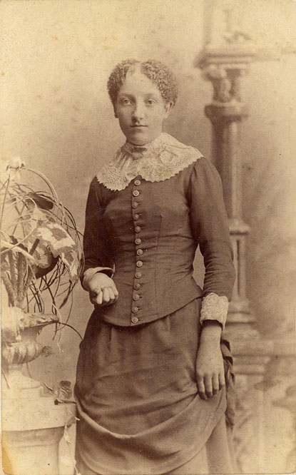Mary Ann Sanderson, about 1885.