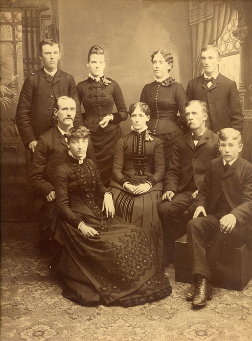 Sanderson Children: Mary Ann is on the front row left.