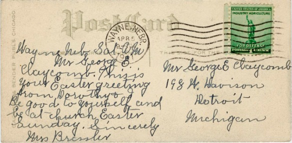 1941 card julia to george