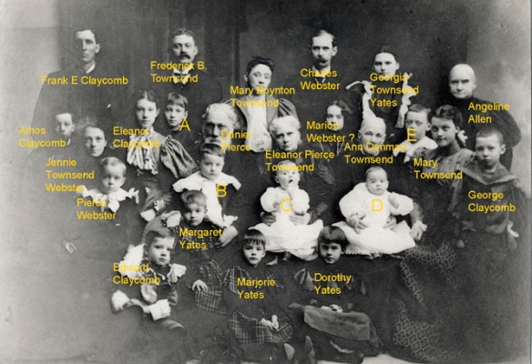Claycomb family 1898 labelled