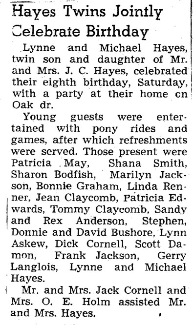 1949 hayes party