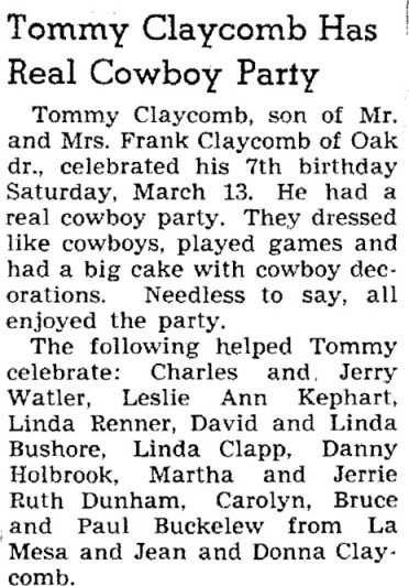 1949 tom party