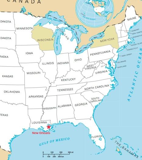 eastern states ny wi no