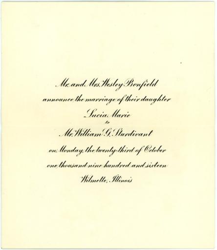 benfield sturdivant announcement 1916