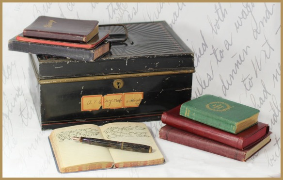 box with diaries