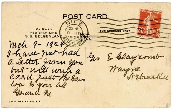 jtb to gec pc 1926 message