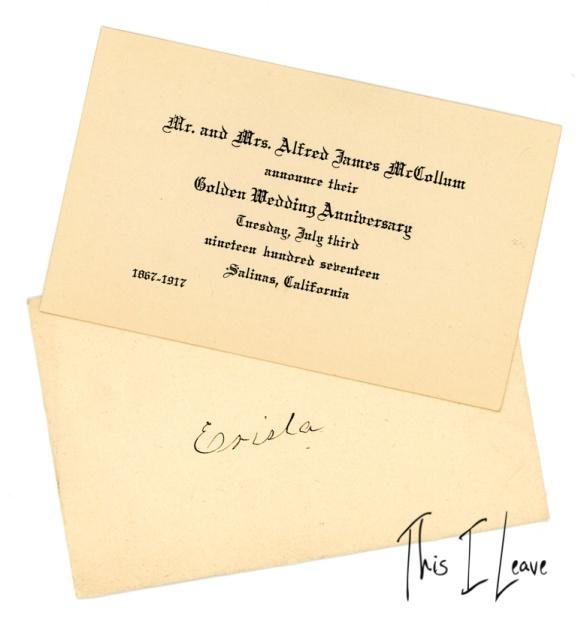 alfred james Mccollum 50th anniv 19177