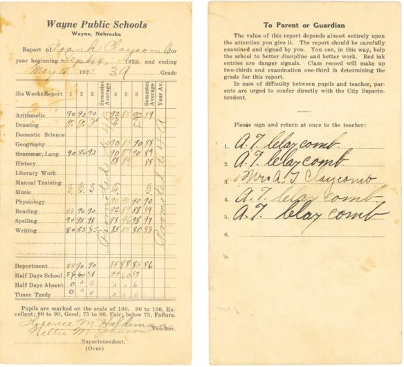 FEC 1922 school