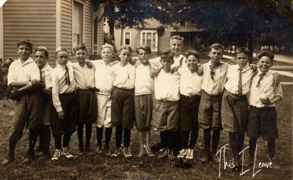 Frank Gochenour (4th from left), 1921.
