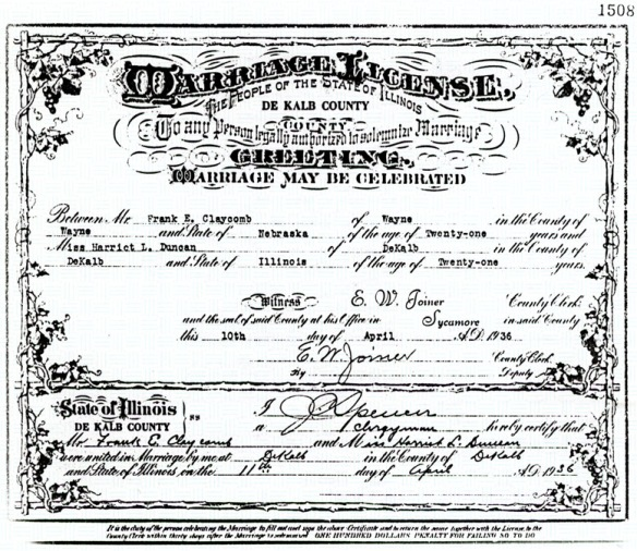marriage cert 1936
