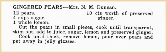 netties gingered pears recipe