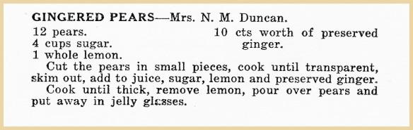 netties gingered pears recipe
