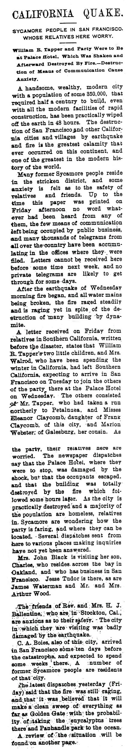 tapper quake 1906