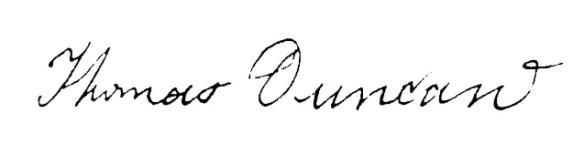 thomas duncan signature
