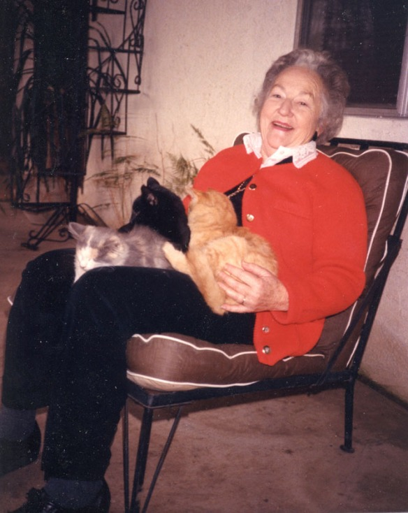 Harriet with cats