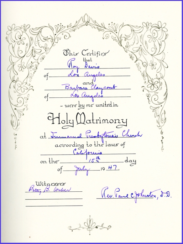 barb wedding book certif