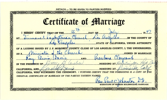 barb wedding certif