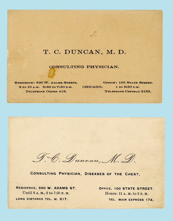 TC duncan business cards