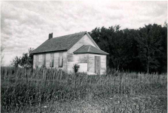 District #14 School, Wayne, Nebraska about 1950.  Corner E 21st & Centennial Road.