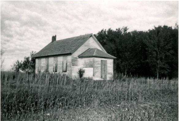 District #14 School, Wayne, Nebraska about 1950.  Corner E 21st & Centennial Road.