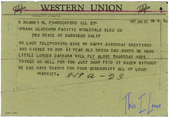 1957 telegram hdc